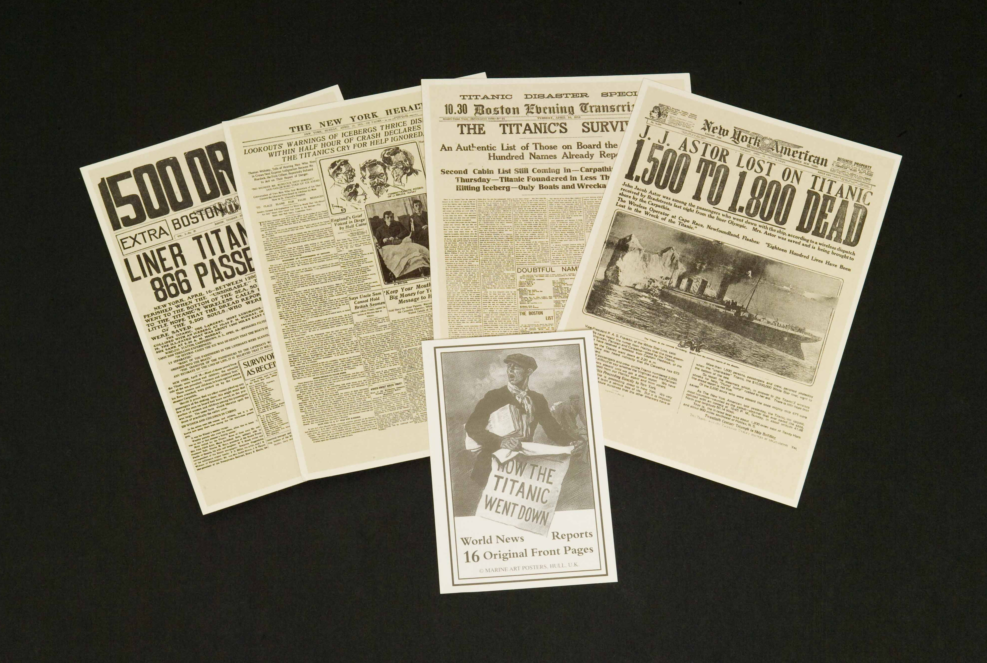 16 x World News Front Page Postcards